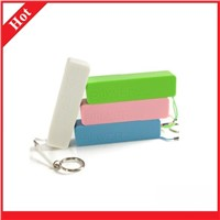 cheap 2200mAh with Keychain and colorful slim Power Bank