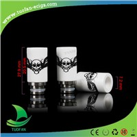 2014 New fashion style wide bore glass watchcig drip tip wholesales