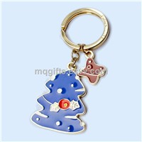 Custom Christmas Trees Metal Promotion Gift Keychain