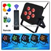 2014 Remote control 6x15W RGBWA 5in1 dmx battery powered wireless led par can