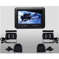 24v 7-inch High Definition Digital TFT LCD Monitor with 3 CH CCD cameras