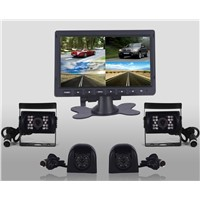 24v 7-inch Quad High Definition Digital TFT LCD Monitor with 4 CCD cameras