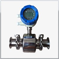 Sanitary electromagnetic water flow meter for food and beverage