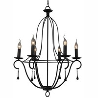 Factory direct sale american country simple classical style black color LED  chandelier