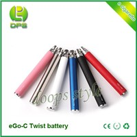 2014 Hot Selling variable voltage ego c twist battery