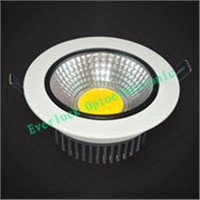10W COB LED Downlight, >50,000 Hours Lifespan, 85-265V AC or 12-24V DC, 110lm/W, CE Mark