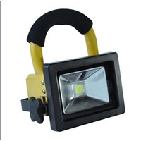 Portable 50W Outdoor LED Floodlight, 85-265V AC Voltage, >0.95 Power Factor, >75Ra