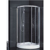 Sliding aluminum framed 5mm clear glass cUPC shower enclosure