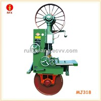 MJ318 Vertical wood planks cutting table band saw
