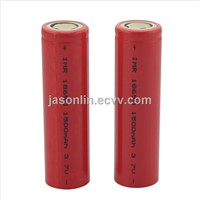 Electronic Cigarette Rechargeable 18650 Li-ion Battery, 3.7V, 1,500mAh