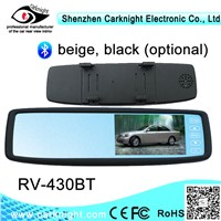 car monitor with 4.3 inch car rearview mirror connect to camera