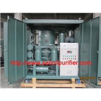 Double-stage vacuum Transformer oil filtration machine/ Insulating oil treatment plant