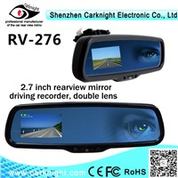 Carknight 2.7 inch digital LCD monitor Car Rearview mirror Car camera with connect to parking sensor