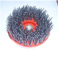 abrasive grinding microcrystal stone brush/4 inch & Diam 110mm screw brushes,antique stone surface