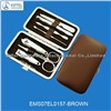 Promotional manicure set in brown case(EMS06SS0157-brown)
