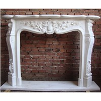 GIGA white onyx Marble fireplace hearth