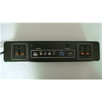 Multi-Media Sockets With Ports of USB AV PC HDMI Broad Band and Telephone