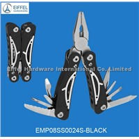 Multi tools with big and small sizes/aluminum handle color can be customized(EMP08AL0024S-black)