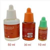 E-cigarette Refill Liquid with Many Flavor and Childproof Cap Bottle
