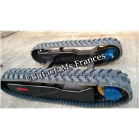 2.5 ton rubber track frame rubber crawler undercarriage
