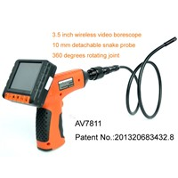 360 degrees roating wireless flexible borescope with 10mm side view lens