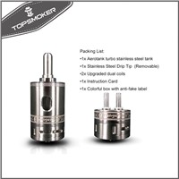 Kanger Aerotank Turbo Atomizer 6ml Stainless Steel Kangertech Aerotank Turbo with Double Dual Coils