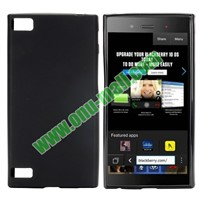 Solid Color TPU Back Cover Case for BlackBerry Z3 (Black)