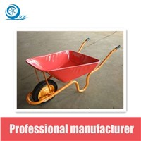 building wheelbarrow galvanized tray PU wheel RW3800