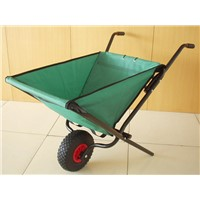 canvas wheel barrow with one wheel