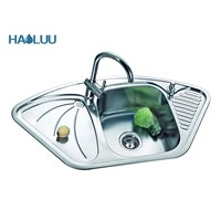 Small Kitchen Desgin Stainless Steel Sink with the Board HL61408