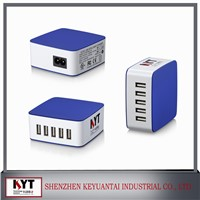 5 port usb mobile phone charger