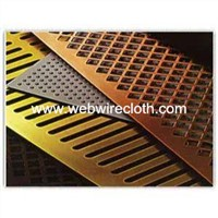 Hot Sales!!!Slot Hole Round Ends Copper Perforated Metal For Filter Mesh Manufacture