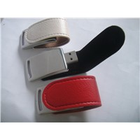 Promotional Leather USB Flash Drive Disk 4GB ,8GB,16GB
