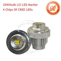 For 5 Series E60 E61 LCI- LED Angel Eyes Marker HALO RING 32W Each Bulb CREE XTE-R5 LEDs 1300LM