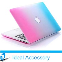 Hot Selling Rainbow PC Crystal Protective Case for Macbook Air, Pro, retina etc
