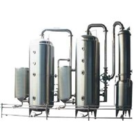 Triple falling film evaporation concentrator
