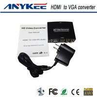 Factory supply 3D HD 1080P HDMI to vga converter with R/L