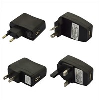 Hottest E-Cig USB Wall Charger, EU/US/UK Plug 5V 500mAh Power Adapter