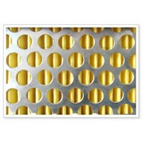 Perforated Round hole sheet PVC coated