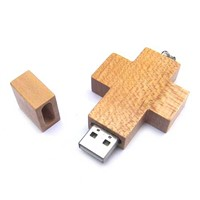Holiday Wooden Cross USB Flash Drive Pendrive memory Disk for Gift