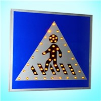 Road traffic sign/Reflective Film Aluminum Alloy Housing Traffic Crossing Sign;