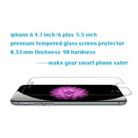 iPhone 6/6 plus 0.33 mm premium tempered glass screen protector 9H high transparency