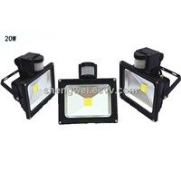 outdoor garden LED light flood lamp 20W with pir sensor IP65 ce rohs saa