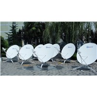 1.8 meter ku band carbon fiber portable vsat antenna
