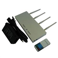 Mobile Phone Jammer, 10 to 30m Shielding Radius with Remote Controller