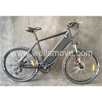 New battery hiding electric bike mountain bike