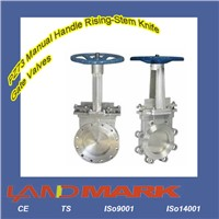 PZ73 Manual Handle Rising-Stem Knife Gate Valves