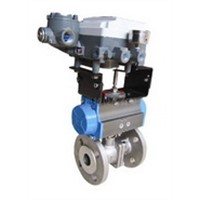 Stainless steel V-type adjusting ball valve with electric device