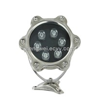 6W Waterproof Single Color LED Underwater Spot Light,6W 12V/24V LED Underwater Light with CE, RoHS