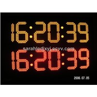 Multi -Color 7 segment led display for countdown timer